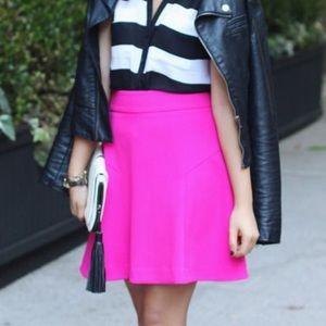 Express hot pink flare skirt